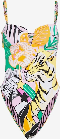 Maaji Badpak ' Zen Jungle ' in de kleur Turquoise / Lila / Sinaasappel / Wit, Productweergave