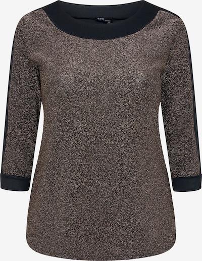 SPGWOMAN Rundhalsshirt in rostbraun / rostrot / schwarz, Produktansicht