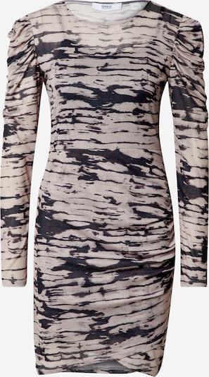 ONLY Šaty 'Jessica' - tmavohnedá / čierna / šedobiela, Produkt