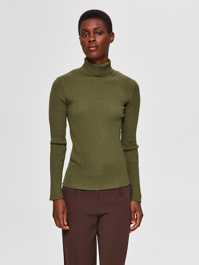 SELECTED FEMME Pullover in grün, Modelansicht