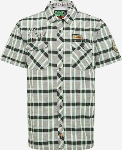 CAMP DAVID Hemd in grau / grün / schwarz, Produktansicht