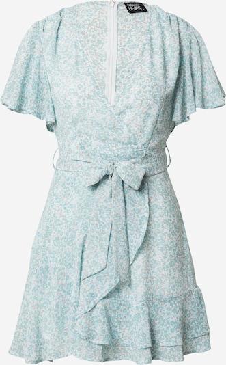 Parallel Lines Robe d'été en camel / jade / blanc, Vue avec produit