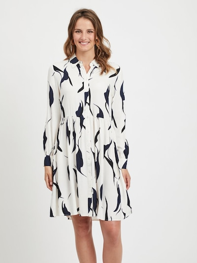 OBJECT Kleid in schwarz / weiß, Modelansicht