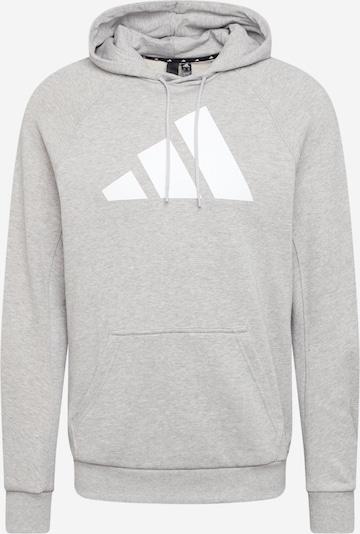 Sportinio tipo megztinis iš ADIDAS PERFORMANCE , spalva - šviesiai pilka / balta, Prekių apžvalga