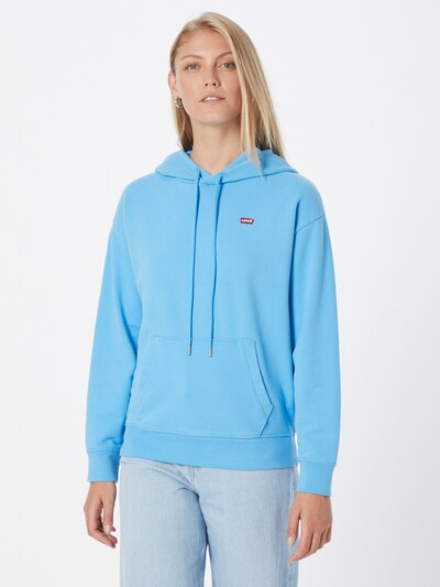 LEVI'S Sweatshirt in Light blue / Red / White: Frontal view