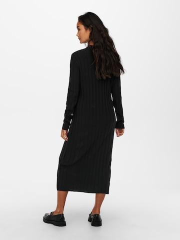 ONLY Gebreide jurk 'New Tessa' in Zwart