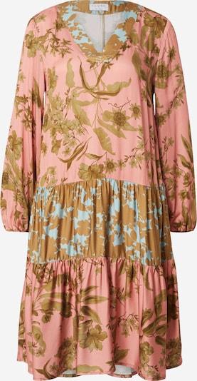 Claire Robe 'Dia' en turquoise / marron / rose, Vue avec produit