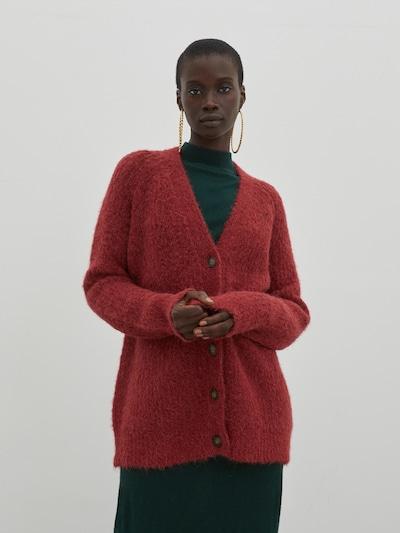 EDITED Cardigan 'Eliandro' in rot, Modelansicht