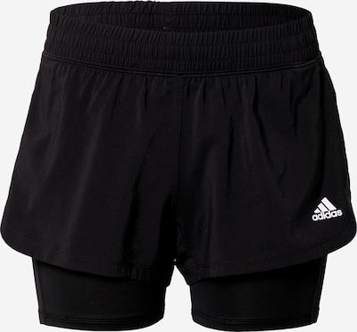 ADIDAS PERFORMANCE Pantalon de sport 'PACER' en noir / blanc, Vue avec produit