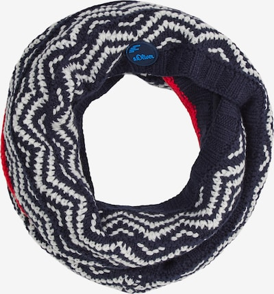 s.Oliver Sjaal in de kleur Blauw gemêleerd / Rood / Wit, Productweergave