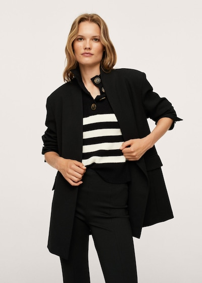 MANGO Mantel in schwarz, Modelansicht