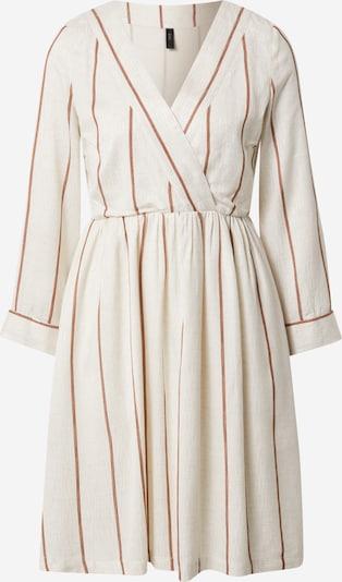 Y.A.S Kleid 'Trimla' in braun / weiß, Produktansicht