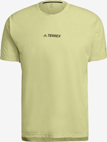 T-Shirt fonctionnel adidas Terrex en jaune