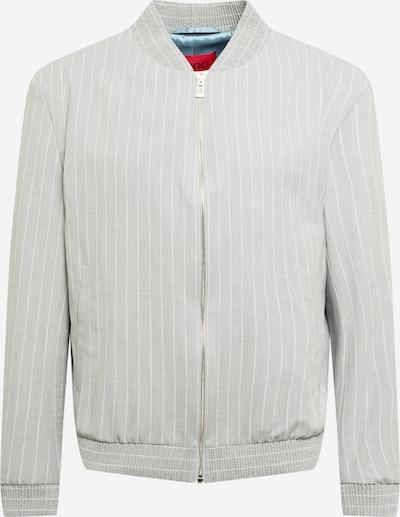 HUGO Преходно яке 'Ukashi212' в сиво / бяло: Изглед отпред