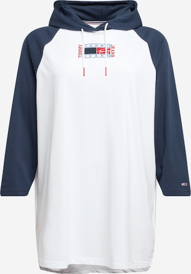 Tommy Jeans Curve Obleka | temno modra / bela barva, Prikaz izdelka