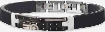 SAVE BRAVE Armband 'Item' in schwarz / silber, Produktansicht