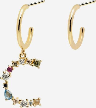 P D PAOLA Paar Ohrstecker 'Buchstabe C Goldohrringe' in gold, Produktansicht
