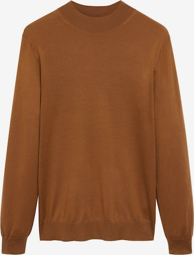 MANGO MAN Pullover in braun / rostbraun, Produktansicht