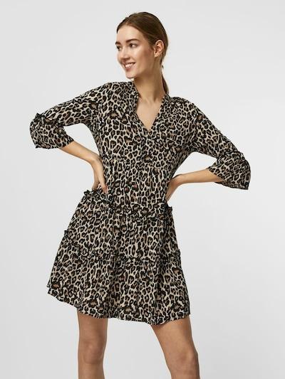 VERO MODA Kleid 'VMSIMPLY EASY' in beige / hellbraun / dunkelbraun, Modelansicht