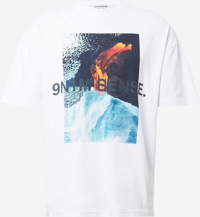 9N1M SENSE Shirt 'Vulkan' in Navy / Light blue / Orange / White, Item view