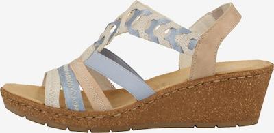 RIEKER Sandalen met riem in de kleur Beige / Blauw / Rosé / Wit, Productweergave