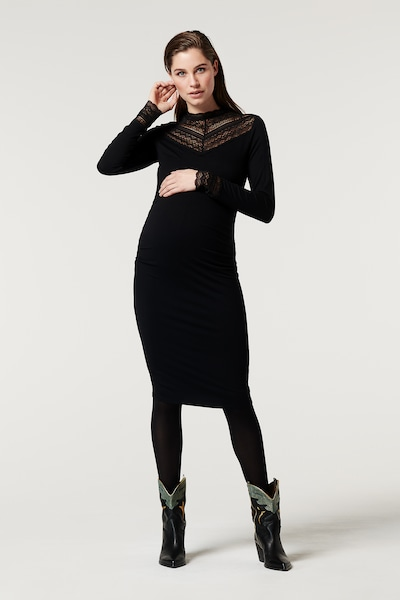 Supermom Kleid in schwarz, Modelansicht
