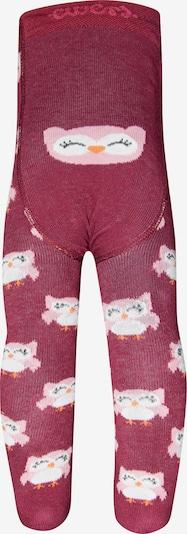 EWERS Strumpfhose 'Eule' in rosa / dunkelrot, Produktansicht