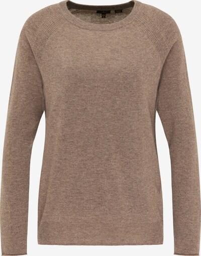 DreiMaster Klassik Pullover in braunmeliert, Produktansicht