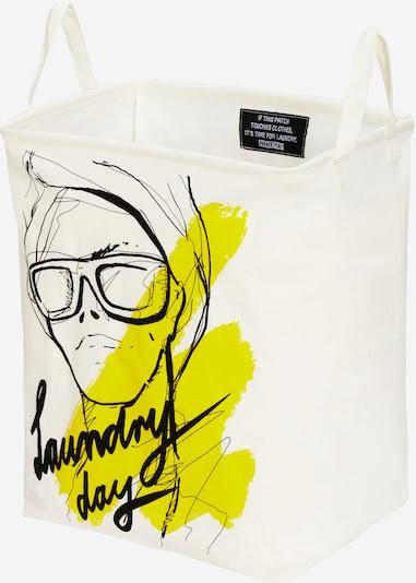 ABOUT YOU Wäschekorb 'Comfy Square Large' in zitrone / schwarz / offwhite, Produktansicht