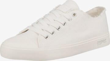 Sneaker low 'Nova' de la ESPRIT pe alb