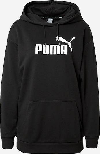 PUMA Sportovní mikina - černá / bílá, Produkt