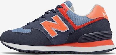 new balance Sneaker in navy / mischfarben / hellorange, Produktansicht