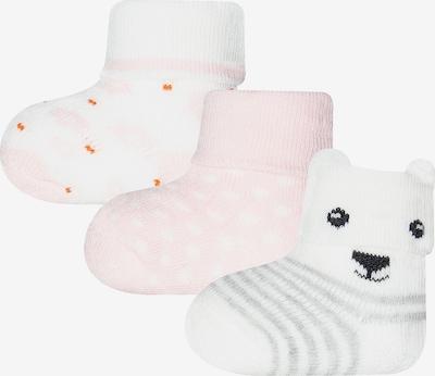 SANETTA Socken in grau / rosa / weiß, Produktansicht