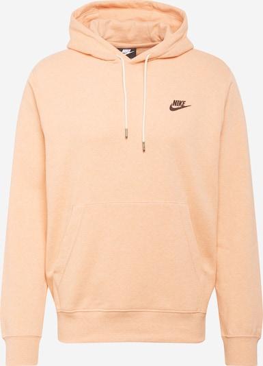 Nike Sportswear Sweatshirt in apricot / schwarz, Produktansicht