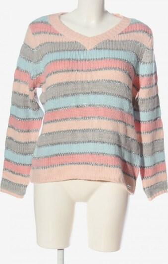 AMY VERMMONT V-Ausschnitt-Pullover in L in nude / türkis / hellgrau, Produktansicht