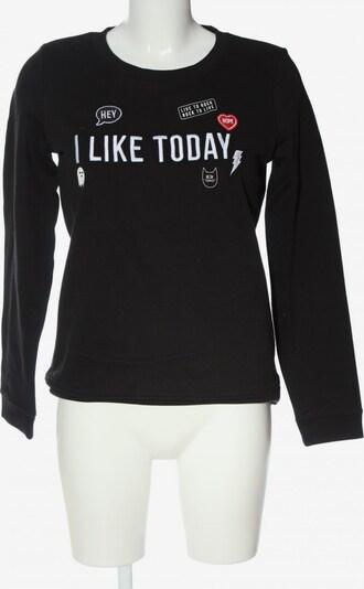 TOM TAILOR DENIM Sweatshirt in M in rot / schwarz / weiß, Produktansicht