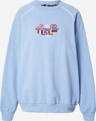 Daisy Street Sweatshirt 'LEAH' in hellblau / gelb / rot / schwarz / weiß, Produktansicht