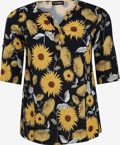 Doris Streich Bluse mit Allover-Print in braun / gelb / schwarz / weiß, Produktansicht