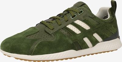 GEOX Zemie brīvā laika apavi 'Snake 2', krāsa - zaļš / balts, Preces skats