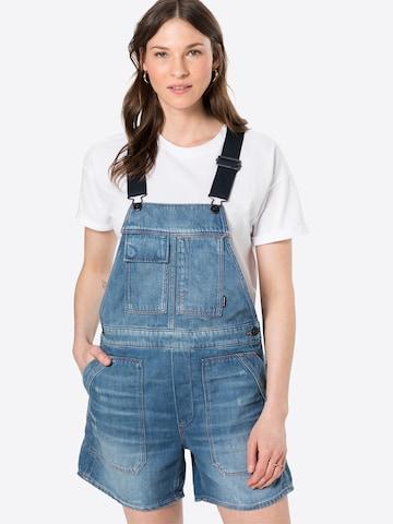 Jeans con pettorina 'Utility' di G-Star RAW in blu