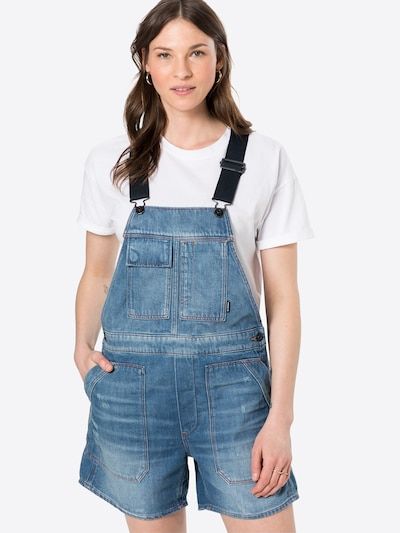 G-Star RAW Dungaree jeans 'Utility' in Blue denim, View model