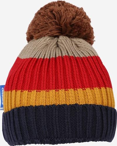 FINKID Mütze 'POMPULA' in kitt / navy / braun / rot, Produktansicht