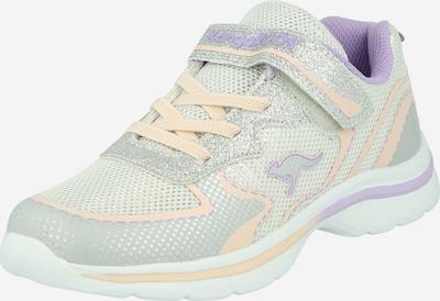 KangaROOS Baskets 'Glozzy' en champagne / gris clair / violet clair / argent, Vue avec produit