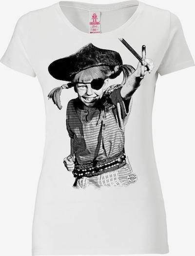 LOGOSHIRT T-Shirt 'Pirate' in schwarz / weiß, Produktansicht
