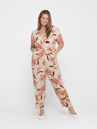 ONLY Carmakoma Jumpsuit in de kleur Beige, Modelweergave