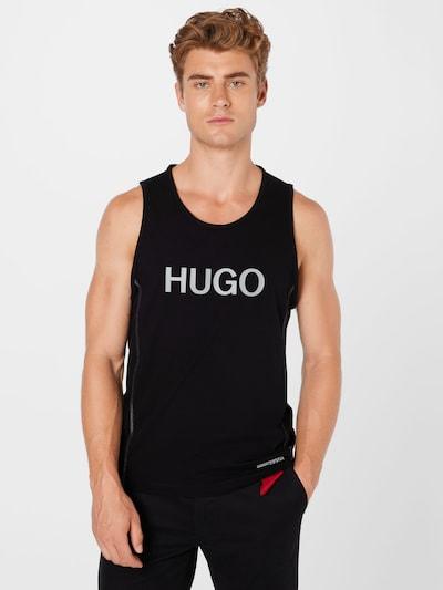 HUGO Top 'Dactive' in schwarz / weiß: Frontalansicht