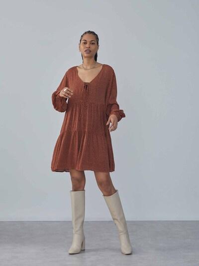 LeGer by Lena Gercke Kleid 'Mimi' in rostbraun / naturweiß, Modelansicht