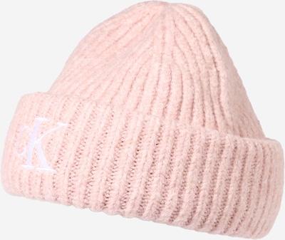 Calvin Klein Jeans Cepure, krāsa - rožkrāsas / balts, Preces skats