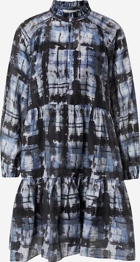 SECOND FEMALE Kleid in blau / schwarz / weiß, Produktansicht