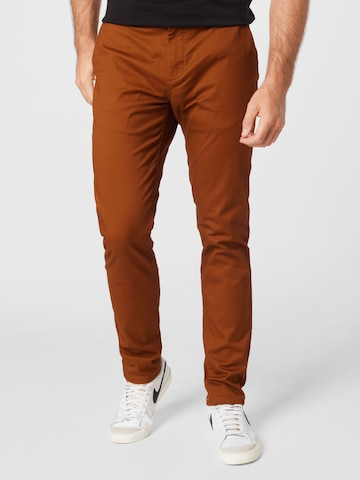 Pantalon chino SCOTCH & SODA en marron